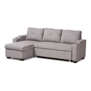 Baxton Studio Staffordshire Sectional Sofa Gray