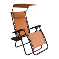 Bliss Hammocks Gravity Free Chair with Sun-Shade and Cup Tray in Terracotta