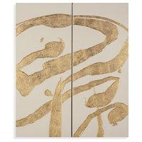 """Gold Splashes"" Wall Art"