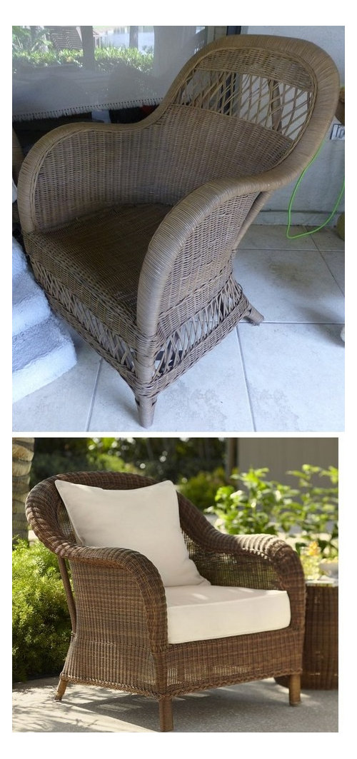 Best Way To Stain This Wicker Chair
