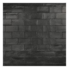 """SomerTile Chester Ceramic Wall Tile, 3"""" x 6"""", Matte Black"""