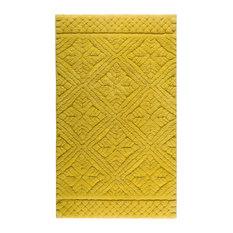 Retro Bath Mat, Mustard Yellow, 60x100 cm