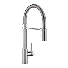 Delta Trinsic Single Handle Pull-Down Kitchen Faucet With Spring Spout, Chrome