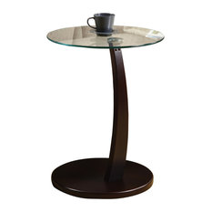 Elegant Monarch Specialties   Accent Table With Tempered Glass, Cappuccino   Side  Tables And End Tables