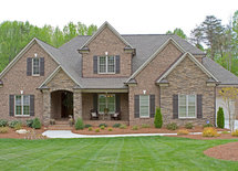 What kind of brick, mortar and stone were used for this house?