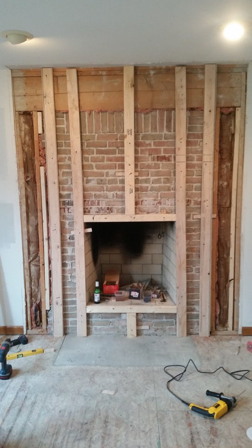 fire place framing and reface rh houzz com framing a fireplace for stone veneer framing a fireplace chase