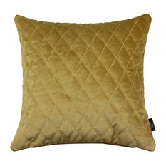 Diamond Quilted Cushion Cover, Orche Gold, 49x49 cm
