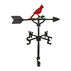 Aluminum Cardinal Weathervane, Natural Color