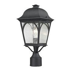 Cornerstone Cape Ann 1 Light Outdoor Pendant Lantern, Matte Textured Black
