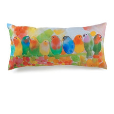 American Mills   Lava Pillows Home Decorative Tropical Birds 12 x25  Pillow   IndoorTropical Outdoor Cushions and Pillows   Houzz. Exterior Cushions Canada. Home Design Ideas