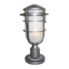 1-Light Pedestal Light, Hematite