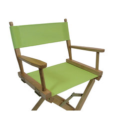 Vinyl Mesh Director's Chair Replacement Cover Set Only, Round Stick, Garden Gree