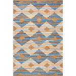 nuLOOM - Hand-Braided Denim and Jute Striped Diamonds Area Rug, Off White, 3'x5' - Made from the finest materials in the world and with the uttermost care, our rugs are a great addition to your home. Features Style: Natural Fibers, Jute & Sisal Material: 60% Cotton, 40% Jute Hand Braided Origin: India Note: All rug sizes are approximate. Due to the difference of monitor colors, some rug colors may vary slightly. We try to represent all rug colors accurately.