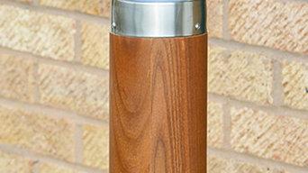 Forester 650mm Teak & Stainless Steel Path Light