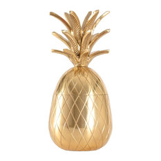 Fred Gold Pineapple Sculpture With Storage