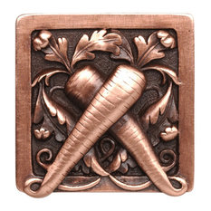Leafy Carrot Knob Antique Copper