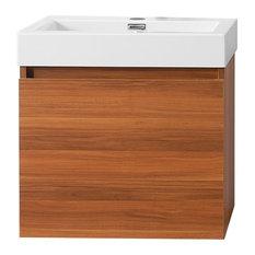 Virtu Usa Inc Zuri 24 Single Bathroom Vanity With White Polymarble
