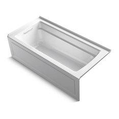 "Archer Exocrylic 3-Side Integral Flange Bath, 66""x32"", White"