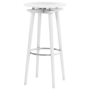 Cross Connection Barstool, White