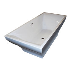 Latour 32 x 71 Freestanding One Piece Soaker Tub with Center Drain