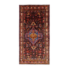 """New Authentic Persian Nahavand Hand-Knotted Rug, 5'7""""x11'1"""""""