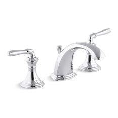 Kohler Devonshire Widespread Bathroom Faucet w/ Lever Handles, Polished Chrome