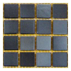 "12""x12""x.16"" Glass Mosaic Tile DIY Kit, Black, 10SqFt. Per Case"