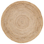 VHC Brands - Harlow 3' Jute Rug - A modern take on Natural Jute, Harlow showcases beautiful concentric braids designed to go almost anywhere with its round shape and adaptable color. Try pairing Harlow with country or even lighter looks.