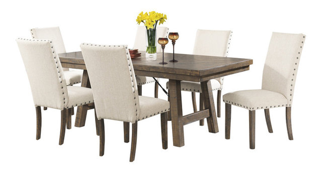 Dana 7-Piece Dining Table and Chair Set - Transitional - Dining Sets ...