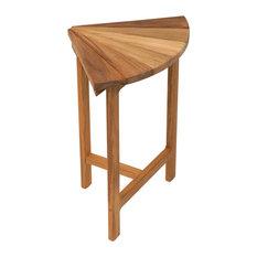"""Plantation Teak Corner Fan Bench for Shower, 13.5"""""""