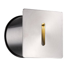 """1-Light Bulb 3W LED Type Wall Sconce, Stainless Steel, 4"""""""