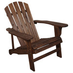 Lehigh Country - Adirondack Chair, Charred - Outdoor living requires something timeless and rugged enough to stand up to the elements. Get the classic look and comfort of a real Adirondack chair. This chair features durable wood construction. It is finished with weather-resistant varnish. Our signature Adirondacks are made with pine and fir, and feature a unique fanned plank pattern. Many people have Adirondacks, but not everyone has the premiere Leigh Country Adirondack. The evidence is in the product.