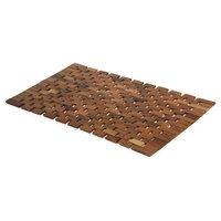 MV Acacia Natural Wood Bathroom Floor Mat