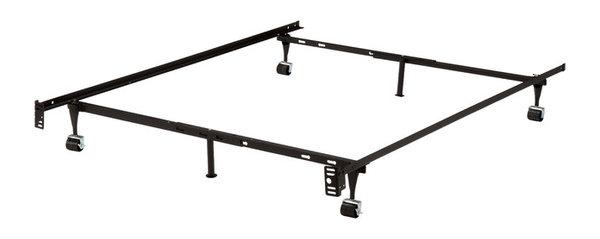 Freya Metal Adjustable Bed Frame With Locking Wheels - Industrial ...