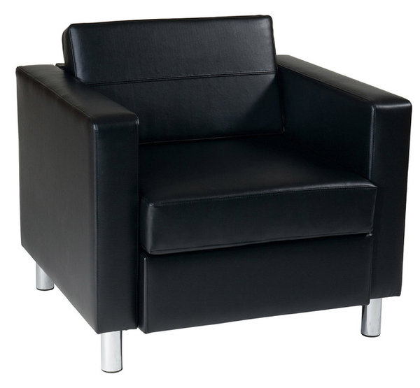 Cheltenham Black Faux Leather Armchair
