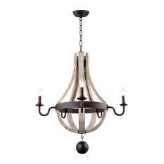 LightingWorld - Wine Barrel Wood Ceiling light chandelier Wooden Metal Rustic Castle Estate - Chandeliers