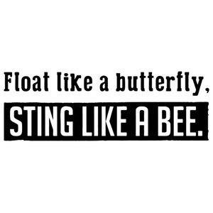 Sting Like A Bee Vinyl Wall Sticker, Black, 90x25 Cm