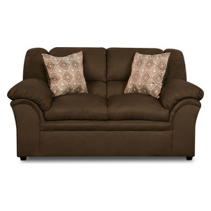 Simmons Upholstery Venture Chocolate Sofa Transitional