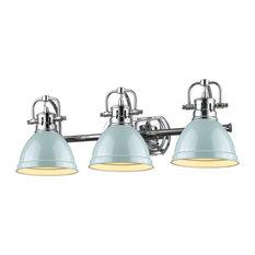 Duncan 3-Light Vanity, Chrome, Seafoam