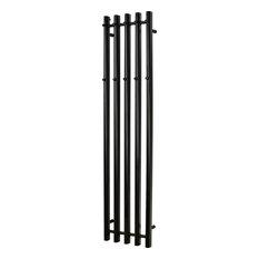 Vega Heated Towel Rail, Matte Black, 34x142 cm