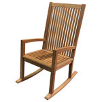 Atlanta Teak Furniture - Teak High-Back Rocking Chair, Grade A - This high back teak rocking chair is a great way to relax. this chair has all the features of our royal rocking chair combined with the classic southern high back. the contoured seat and tight slats will provide comfort and relaxation for hours on end.