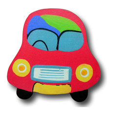 ToyTown Car Wooden Drawer Pull