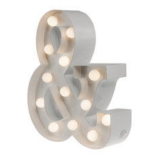 Ampersand Table Lamp, White, Small