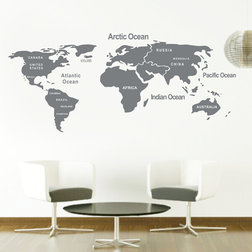 Beautiful Contemporary Wall Decals by Colorful Wall Decals INC