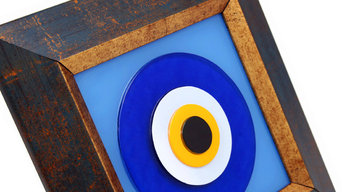 Fused Glass Evil Eye Decorative Wall Frame
