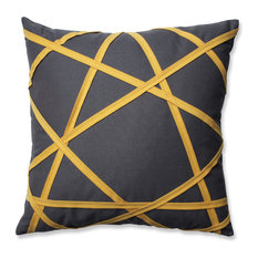 "Carlyle 16.5"" Throw Pillow, Gray/Yellow"