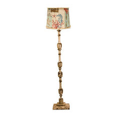 ahs lighting harlan floor with nautical patch shade floor lamps. Black Bedroom Furniture Sets. Home Design Ideas