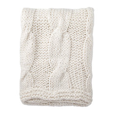 Jaipur Living Koen Light Gray Textured Throw, 50x60
