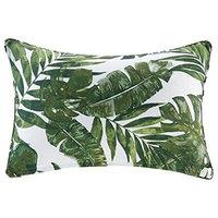 """Everett Printed Palm 3M Scotchgard Outdoor Oblong Pillow Green 14""""x20"""""""