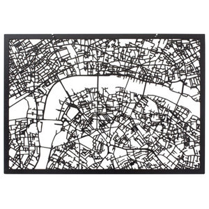 3-D Map of London, Black